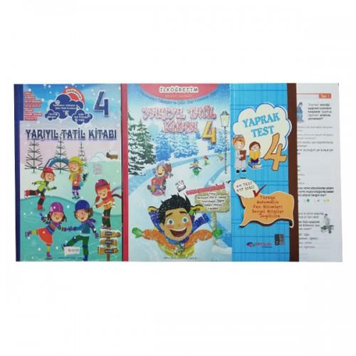 4.Sınıf Yarıyıl Kış Tatil Kitabı ve Yaprak Test 3 Kitap