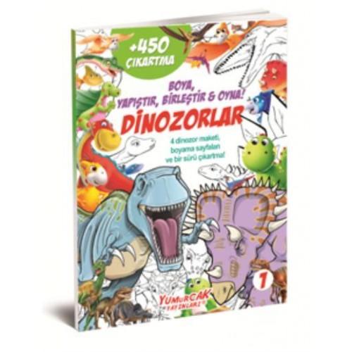 Okul öncesi Dinozorlar Boyama Seti 900 Den Fazla özel Parlayan