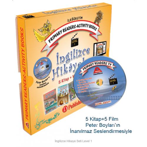 2 ve 3.Sınıf İngilizce Hikaye Seti Level-1 5 Kitap 1 CD