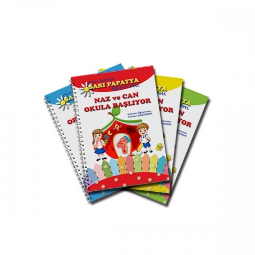 Okul Öncesi Sarı Papatya Eğitim Seti 4 Kitap
